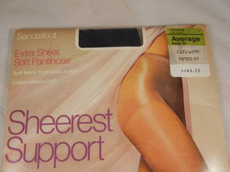 JC Penney Sheerest Support Pantyhose Sandalfoot Size Average Various Colors