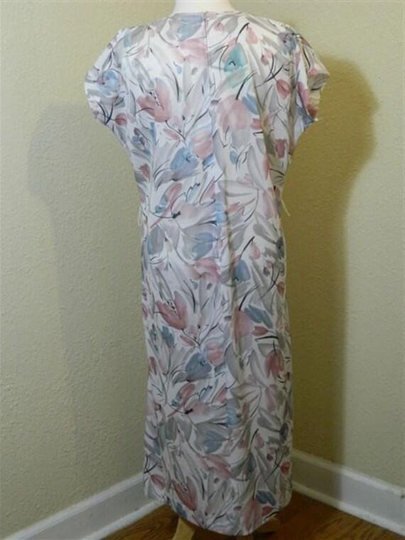 Vintage Plus Size Floral Dress, 1980s Vintage Dre… - image 9
