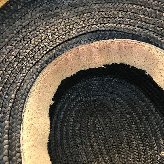 Vintage Black and Gold Straw Hat, Miriam Lefcourt… - image 6
