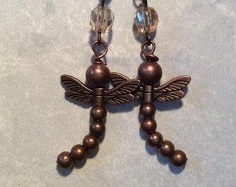 Dragonfly Earrings Copper