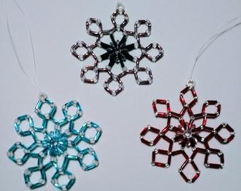 SunCatcher Hand-beaded Glass Ornament Red, Sky Blue or Lavender
