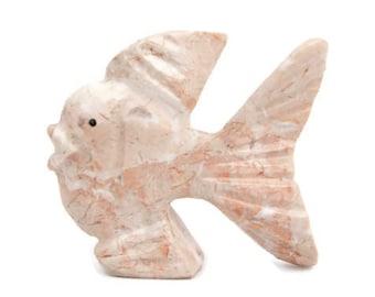 small Gemstone Soapstone Tropical Fish Stone Animal Carving Figurines Fish