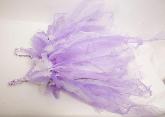 Vintage Tulle Tutu Dress Purple Glitter Little Gi… - image 8