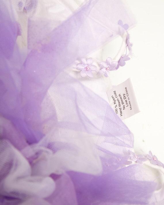 Vintage Tulle Tutu Dress Purple Glitter Little Gi… - image 7