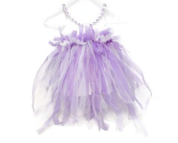 Vintage Tulle Tutu Dress Purple Glitter Little Gi… - image 1