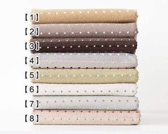 10069f960b2 Jacquard Cotton Fabric, Polka Dots Yarn-Dyed Pre Washed Cotton Fabric, 8  Colors for Choice, Cotton Fabric- 1/2 Yard (QT1326)