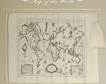 World map fabric etsy cotton linen world map fabric for craft vintage color map of the world earthoceancontinentdiyfabric c160 gumiabroncs Gallery