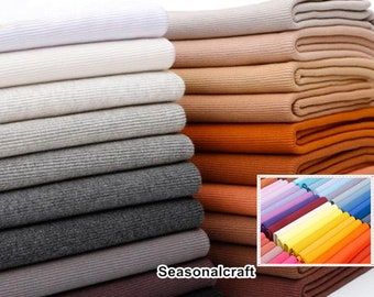 "69 colors - Cotton Elastic Rib Knit Fabric Tube-7.8"" Length 20 x 110cm wt 320 gsm  97% cotton, 3 perc lycra, ideal for Cuffs  QT1202B"
