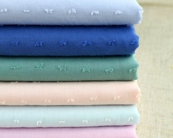 Cutting motii fabric, Jacquard Dots Cotton Yarn fabric, Soft, Cotton Fabric-One Yard / Meter (QT1502)