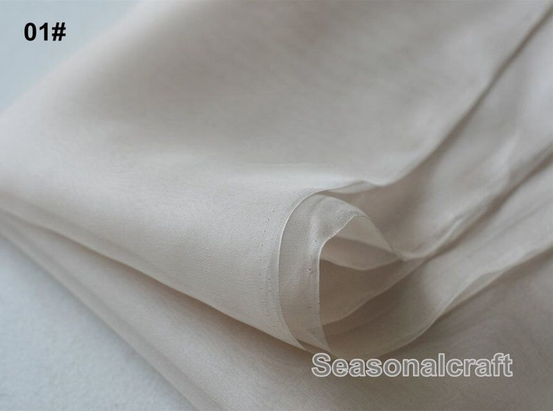 100% Silk Fabric Nude Pink Tone Light Weight by