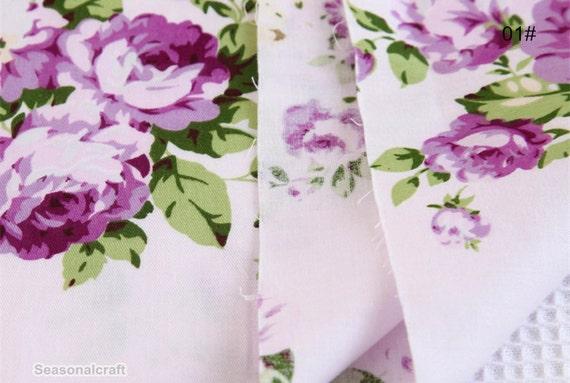 Twill Cotton Fabric Cotton Fabric C626 Shabby Chic,Flower Cotton Fabric Flower Cotton Fabric Half Yard  Meter
