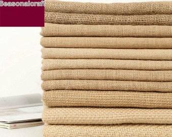Heavy Linen, Natural Beige Linen Fabric/ Linen/ Natural Fabric/ Upholstery/ Native Cotton Linen- 1/2 yard (QT608)