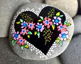 982e4422 tender hearted / painted stones/painted rocks/altar stones/meditation  stones/friendship gifts/anniversary/tiny art/ boho art/ hippie art/