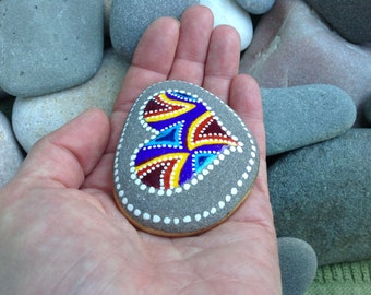 Circle of Love / painted rocks / Sandi Pike Foundas / beach stone from Cape Cod