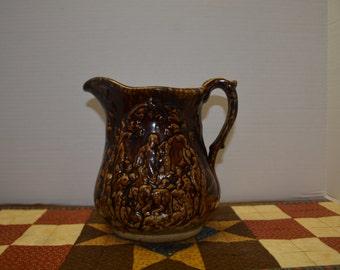 Antique Brown Glazed Pitcher