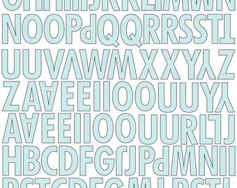 """FREEBIE! Divine Canvas Textured Alphabet Stickers 8""""x10"""" by Prima Marketing 562830"""