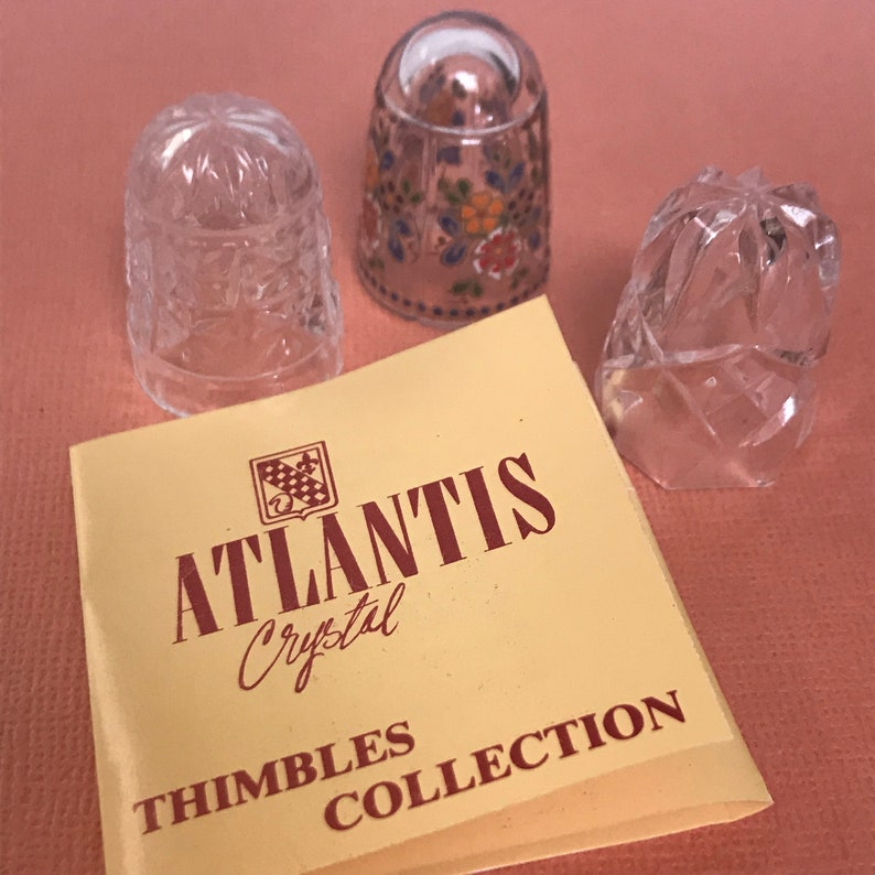 Set Of three Atlantis Crystal Thimbles.