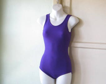 654fa82e8acd Dark Purple Vintage Leotard Bodysuit  Girl s 12-14  Women s XXS  Classic  Leotard Dance Class Shape  U.S. Shipping Included
