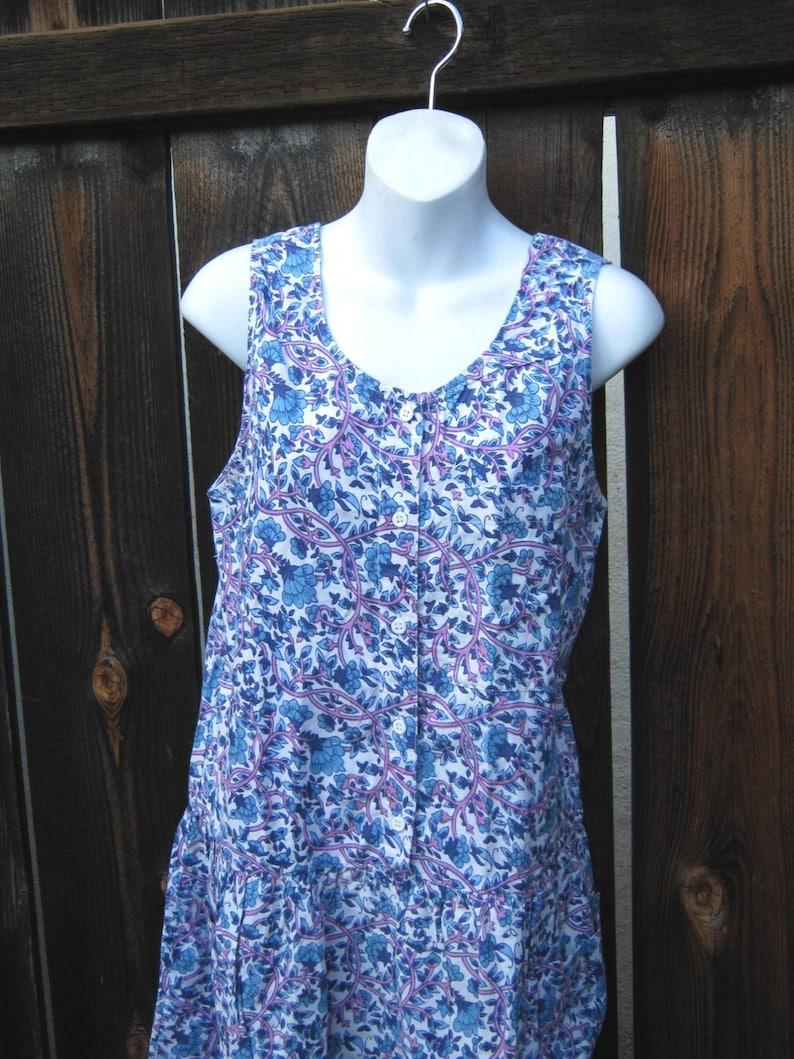 Low-Waist Cotton Knee-Length Grungy Pocketed OnesieSunsuit Blue /& Purple Floral Romper; Large