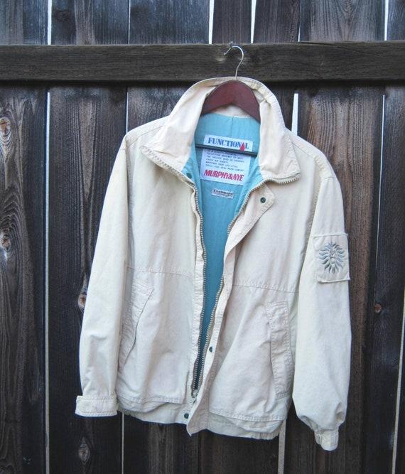 more photos 84c5b a70cb Murphy & Nye 'Functional' Air Sports Jacket; Aviation/Workman Style Beige  Windbreaker Style; Men's Small/Medium; Women's Lg