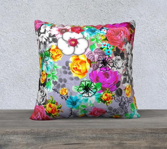 Beautiful Large Vintage Floral Cushion Cover Sofa Cushion Etsy