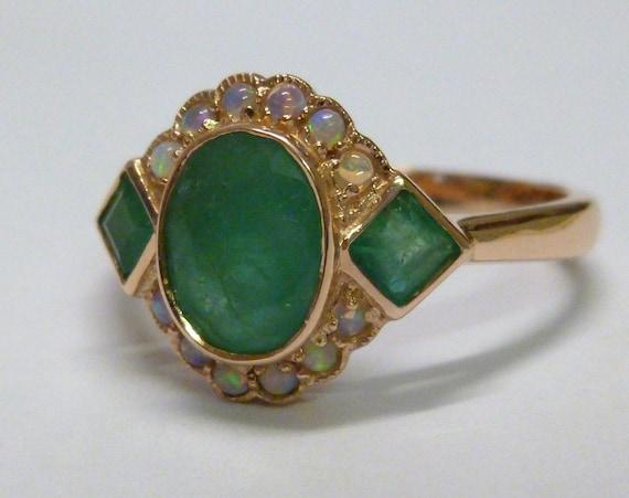 Earth Moon Design Australian Opale /& Diamant 18K collier pendentif et chaîne dorée