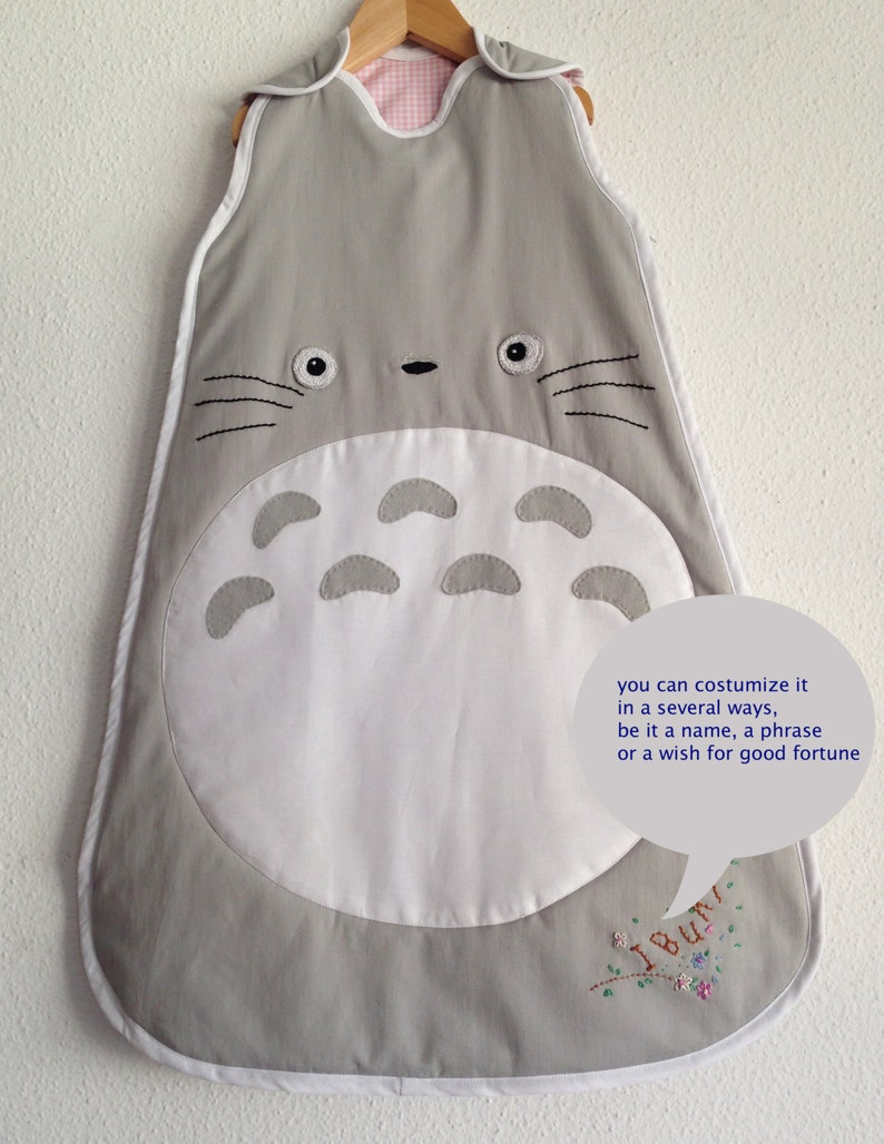 381117aabbd Totoro sleeping bag a fantastic baby shower gift size 0 up 18 | Etsy