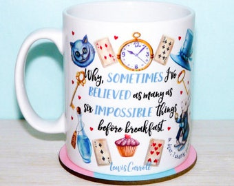 Alice In Wonderland Mug For Fans Of Literary Classics And The Mad Hatter