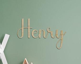 Cursive Name for bedroom, custom wall sign, kids name, name plaque kid room