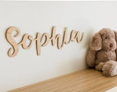 Name plaque, child's nursery name, kids name, wall art, wall decor, wooden child's plaque