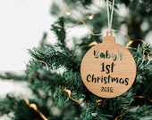 Christmas bauble, personalised Christmas bauble, Christmas tree decoration, christmas decoration, personalised christmas for baby decor