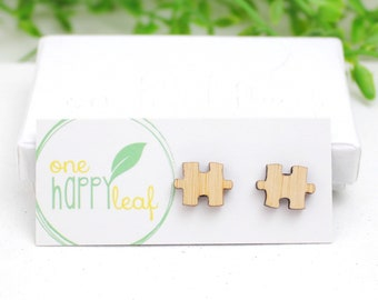 Puzzle piece earrings - anniversary gift - puzzle studs - cute studs - anniversary jewellery