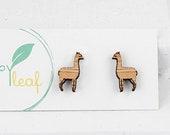 Llama stud earrings - llama jewellery - Llama earrings - funny llama themed gift, llama animal