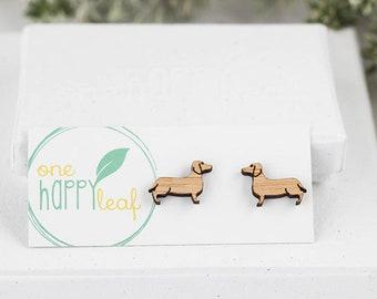 Dachshund jewelry, sausage dog earrings - Sausage dog gifts - dachshund studs - weiner dogs jewelry - doxie studs