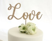 Love cake topper, wooden cake topper, wedding timber cake topper, engagement cake