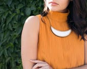 Statement necklace for work - wooden necklace - eco friendly jewelry -