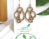 Drop earrings - Abstract dangle earrings - wooden earrings - Hypoallergenic earrings