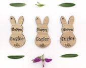 Easter gift tags - 3 set - lasercut gift tags - australian easter