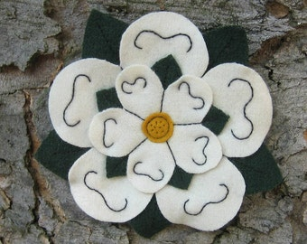 White York Rose Livery Badge - Medieval Heraldic Rose, Sew-on, Hand Sewn. FREE UK postage