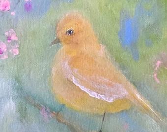 ORIGINAL ART CARD | Bird Greeting Card | 5 x 7 | Free Shipping
