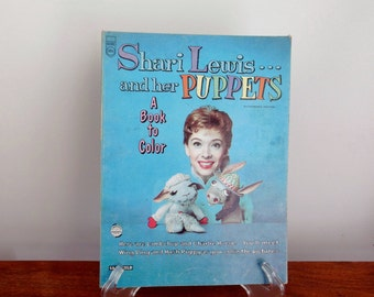 Shari Lewis And Her Puppets Coloring Book 1958 Childrens With Lambchop Charlie Horse