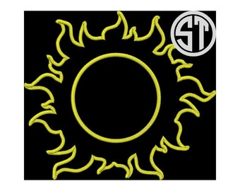 Sunshine Applique Embroidery Design READY TO SEW