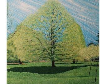 "Arboretum Tree 48"" x 48"" Original Acrylic Painting on canvas"