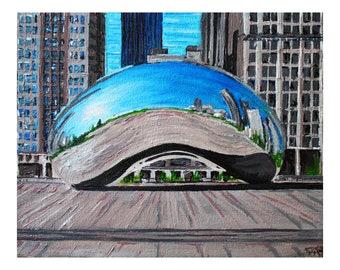 Chicago Bean Photo Print