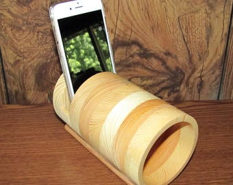 Handmade Portable Acoustic iPhone Speaker Amplifier Fits All Smartphones - iPhone, Samsung, LG, Graduation Gift Birthday Gift
