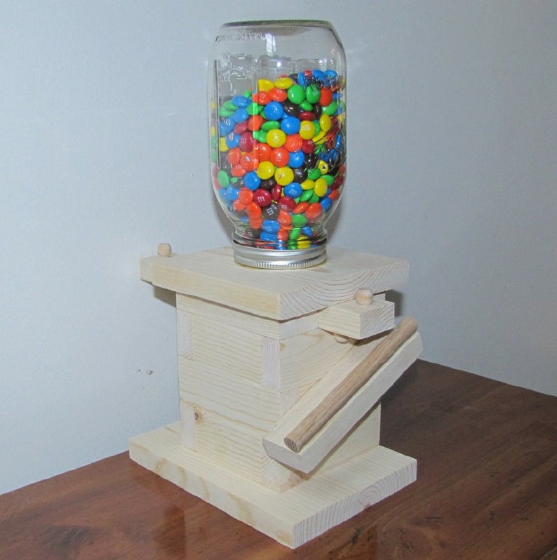 Diy Wood Mason Jar Candy Dispenser Kit Gumball Machine Kids Birthday Boy Scouts Summer Camp Wood Craft Projects Country Store Display