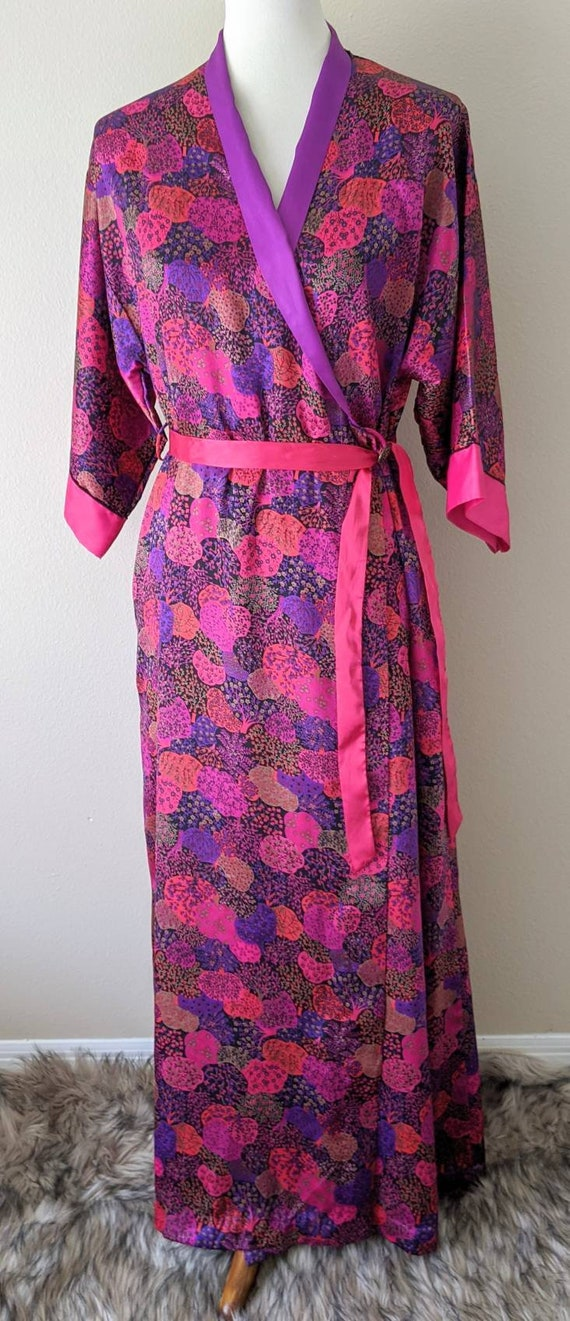 Robe Long Japanese Style,  Loungewear Floral House