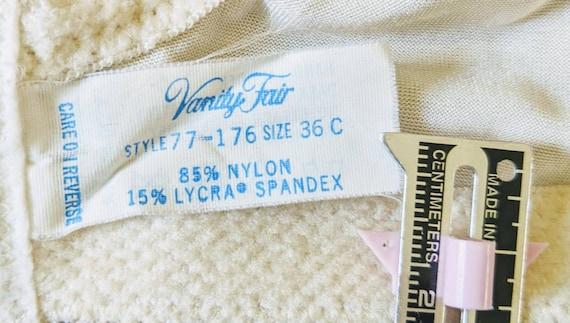 Vintage VANITY FAIR Bra, Backless Corset top Lace… - image 4
