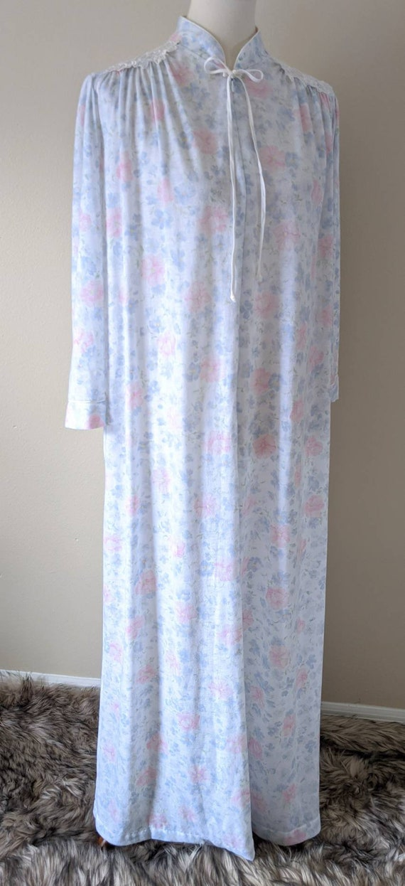 MISS ELAINE Vintage Nightgown, Floral Nightwear Lo