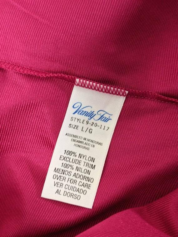 Hot Pink Slip, Hot Pink Full Slip, Vintage Hot Pi… - image 10